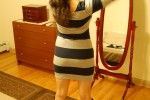 Free porn pics of Boots n Stripped Dress 1 of 88 pics
