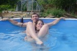 Free porn pics of A young couple playng in the pool 1 of 37 pics