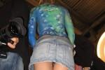 Free porn pics of Upskirt - denim skirt 1 of 3 pics