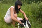 Free porn pics of She took her pussy cat for a picnic))) 1 of 17 pics