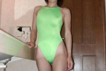 Free porn pics of Light Green Flyback Swimsuit 1 of 25 pics