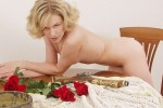 Free porn pics of Blonde with Roses. 1 of 12 pics