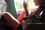 Free porn pics of Real sexy woman on train 1 of 3 pics