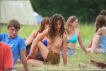 Free porn pics of hippie girls - girl swimming and dancing 1 of 28 pics
