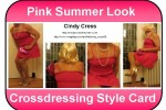 Free porn pics of Crossdressing Style Card (CSC) Cindy Pink Summer  1 of 1 pics