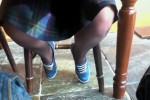Free porn pics of UK Girlfriend Shows Off Her Sweaty Tights / Pantyhose Feet! 1 of 138 pics