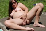 Free porn pics of Jill Playing With Dildo in the Woods 1 of 10 pics