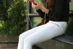 Free porn pics of teen slut Brunette At Busstop 1 of 31 pics