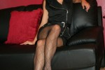 Free porn pics of Black beauty in patterned pantyhose 1 of 33 pics