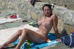 Free porn pics of Wife big busty topless in the sea 1 of 5 pics