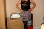 Free porn pics of CD Nicola in Black Top & Layered Skirt 1 of 16 pics