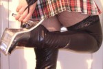 Free porn pics of Plad micro skirt - pre smooth legs 1 of 14 pics