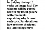 Free porn pics of COCK JUDGING CONTEST - PLEASE ENTER!!! 1 of 1 pics