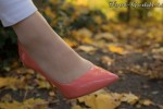 Free porn pics of Foot-Goddess Gosia Blonde shiny Nylon feet High Heels leggings 1 of 24 pics