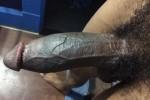 Free porn pics of MY BIG BLACK DICK HARD 1 of 2 pics