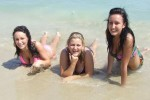 Free porn pics of Niki and her friend lose their bikini tops at the beach 1 of 61 pics