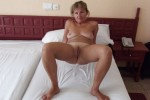 Free porn pics of WIFE EXPOSED ON BED 1 of 10 pics