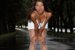 Free porn pics of  Valentina Kolesnikova - white dress & glossy pantyhose   1 of 47 pics