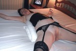 Free porn pics of Mrs EXPOSED Gordons amateur brunette mature wife stockings tied 1 of 24 pics
