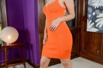 Free porn pics of Alix Lovell-Sexy orange skirt high heels and nice hips 1 of 161 pics