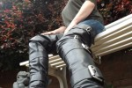 Free porn pics of englishbootedlady leather crotch boots with steel buckles  1 of 5 pics